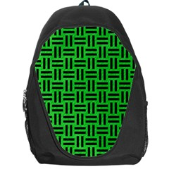 Woven1 Black Marble & Green Colored Pencil (r) Backpack Bag