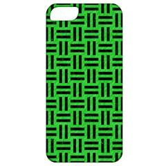 Woven1 Black Marble & Green Colored Pencil (r) Apple Iphone 5 Classic Hardshell Case