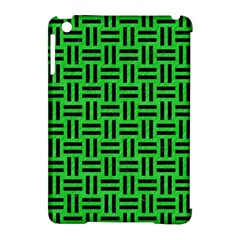 Woven1 Black Marble & Green Colored Pencil (r) Apple Ipad Mini Hardshell Case (compatible With Smart Cover)