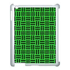 Woven1 Black Marble & Green Colored Pencil (r) Apple Ipad 3/4 Case (white)