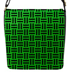 Woven1 Black Marble & Green Colored Pencil (r) Flap Messenger Bag (s)