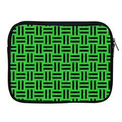 Woven1 Black Marble & Green Colored Pencil (r) Apple Ipad 2/3/4 Zipper Cases