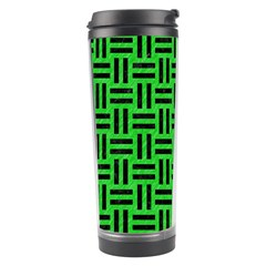 Woven1 Black Marble & Green Colored Pencil (r) Travel Tumbler