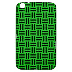 Woven1 Black Marble & Green Colored Pencil (r) Samsung Galaxy Tab 3 (8 ) T3100 Hardshell Case