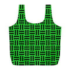 Woven1 Black Marble & Green Colored Pencil (r) Full Print Recycle Bags (l)