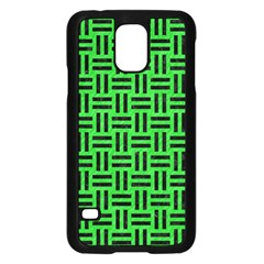 Woven1 Black Marble & Green Colored Pencil (r) Samsung Galaxy S5 Case (black)