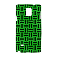 Woven1 Black Marble & Green Colored Pencil (r) Samsung Galaxy Note 4 Hardshell Case