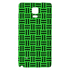 Woven1 Black Marble & Green Colored Pencil (r) Galaxy Note 4 Back Case
