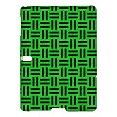 Woven1 Black Marble & Green Colored Pencil (r) Samsung Galaxy Tab S (10 5 ) Hardshell Case