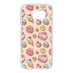 Sweet Pattern Samsung Galaxy S7 Edge White Seamless Case