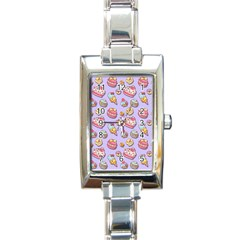 Sweet Pattern Rectangle Italian Charm Watch