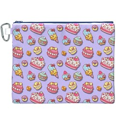 Sweet Pattern Canvas Cosmetic Bag (xxxl)