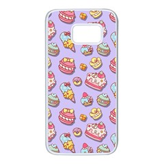 Sweet Pattern Samsung Galaxy S7 White Seamless Case