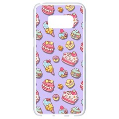 Sweet Pattern Samsung Galaxy S8 White Seamless Case