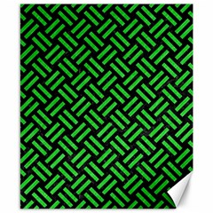Woven2 Black Marble & Green Colored Pencil Canvas 8  X 10