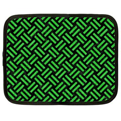 Woven2 Black Marble & Green Colored Pencil Netbook Case (xl)