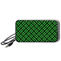 Woven2 Black Marble & Green Colored Pencil Portable Speaker