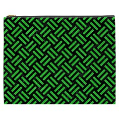 Woven2 Black Marble & Green Colored Pencil Cosmetic Bag (xxxl)