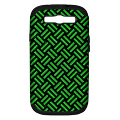 Woven2 Black Marble & Green Colored Pencil Samsung Galaxy S Iii Hardshell Case (pc+silicone)