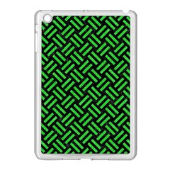 Woven2 Black Marble & Green Colored Pencil Apple Ipad Mini Case (white)