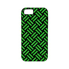 Woven2 Black Marble & Green Colored Pencil Apple Iphone 5 Classic Hardshell Case (pc+silicone)