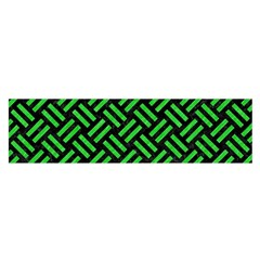 Woven2 Black Marble & Green Colored Pencil Satin Scarf (oblong)