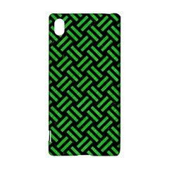 Woven2 Black Marble & Green Colored Pencil Sony Xperia Z3+