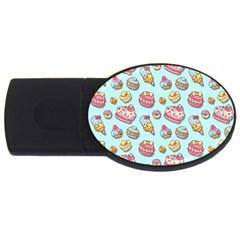 Sweet Pattern Usb Flash Drive Oval (2 Gb)