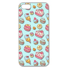 Sweet Pattern Apple Seamless Iphone 5 Case (clear)