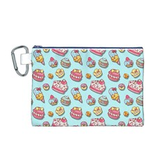 Sweet Pattern Canvas Cosmetic Bag (m)