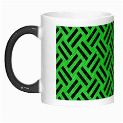 Woven2 Black Marble & Green Colored Pencil (r) Morph Mugs