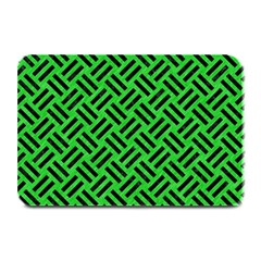 Woven2 Black Marble & Green Colored Pencil (r) Plate Mats