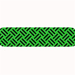 Woven2 Black Marble & Green Colored Pencil (r) Large Bar Mats
