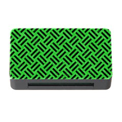 Woven2 Black Marble & Green Colored Pencil (r) Memory Card Reader With Cf