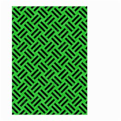 Woven2 Black Marble & Green Colored Pencil (r) Small Garden Flag (two Sides)