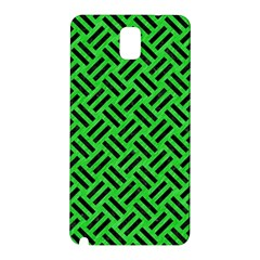 Woven2 Black Marble & Green Colored Pencil (r) Samsung Galaxy Note 3 N9005 Hardshell Back Case