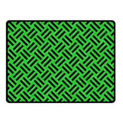 Woven2 Black Marble & Green Colored Pencil (r) Double Sided Fleece Blanket (small)