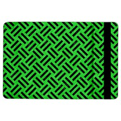 Woven2 Black Marble & Green Colored Pencil (r) Ipad Air 2 Flip
