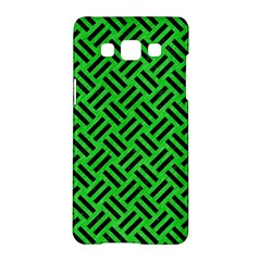Woven2 Black Marble & Green Colored Pencil (r) Samsung Galaxy A5 Hardshell Case
