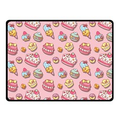 Sweet Pattern Double Sided Fleece Blanket (small)