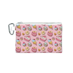Sweet Pattern Canvas Cosmetic Bag (s)