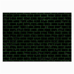 Brick1 Black Marble & Green Leather Large Glasses Cloth (2 Side)