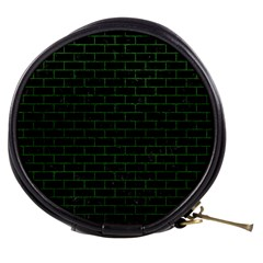 Brick1 Black Marble & Green Leather Mini Makeup Bags