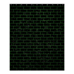 Brick1 Black Marble & Green Leather Shower Curtain 60  X 72  (medium)