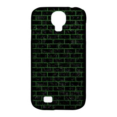 Brick1 Black Marble & Green Leather Samsung Galaxy S4 Classic Hardshell Case (pc+silicone)
