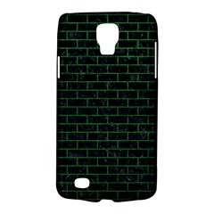Brick1 Black Marble & Green Leather Galaxy S4 Active
