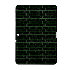Brick1 Black Marble & Green Leather Samsung Galaxy Tab 2 (10 1 ) P5100 Hardshell Case