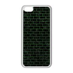 Brick1 Black Marble & Green Leather Apple Iphone 5c Seamless Case (white)