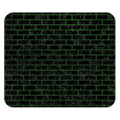 Brick1 Black Marble & Green Leather Double Sided Flano Blanket (small)