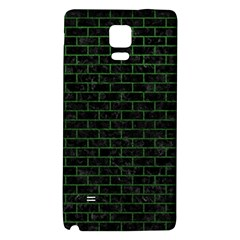 Brick1 Black Marble & Green Leather Galaxy Note 4 Back Case